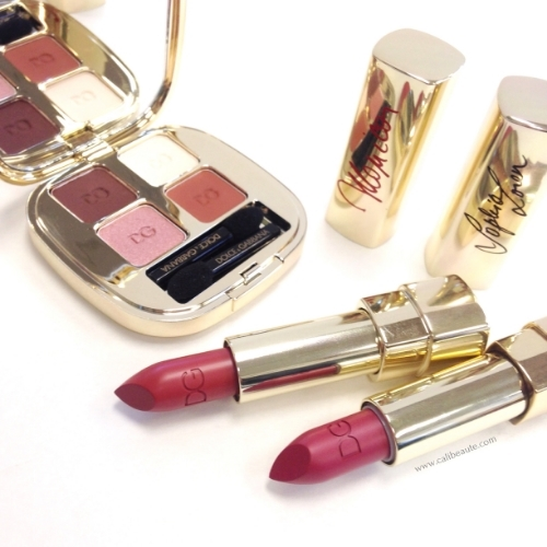 Dolce & Gabbana Sophia Loren No. 1 Lipstick and Brown Blush Eyeshadow Quad Review