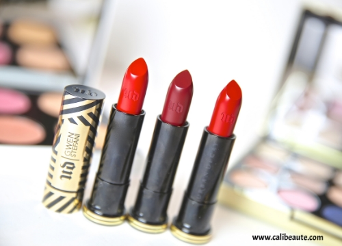 Urban Decay x Gwen Stefani Lipsticks: 714, Spiderweb, Rock Steady, Review & Swatches