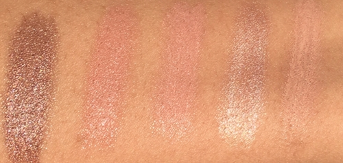 Swatches L-R: I Get So OCC, Dahhlingg, MCizzle, All I want, Bit of Bubbly