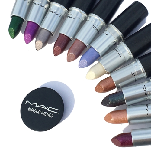 New MAC Metallic Lipstick Collection Swatches