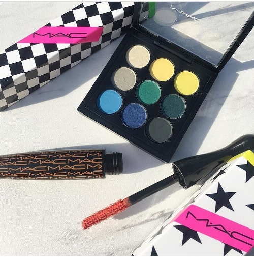 MAC Eyeshadow x 9: Tropic Cool Times Nine Photos and Swatches & Work It Out Collection Mascaras