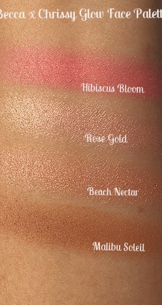 Top to Bottom: HIbiscus Bloom, Rose Gold, Beach Nectar, and Malibu Soleil