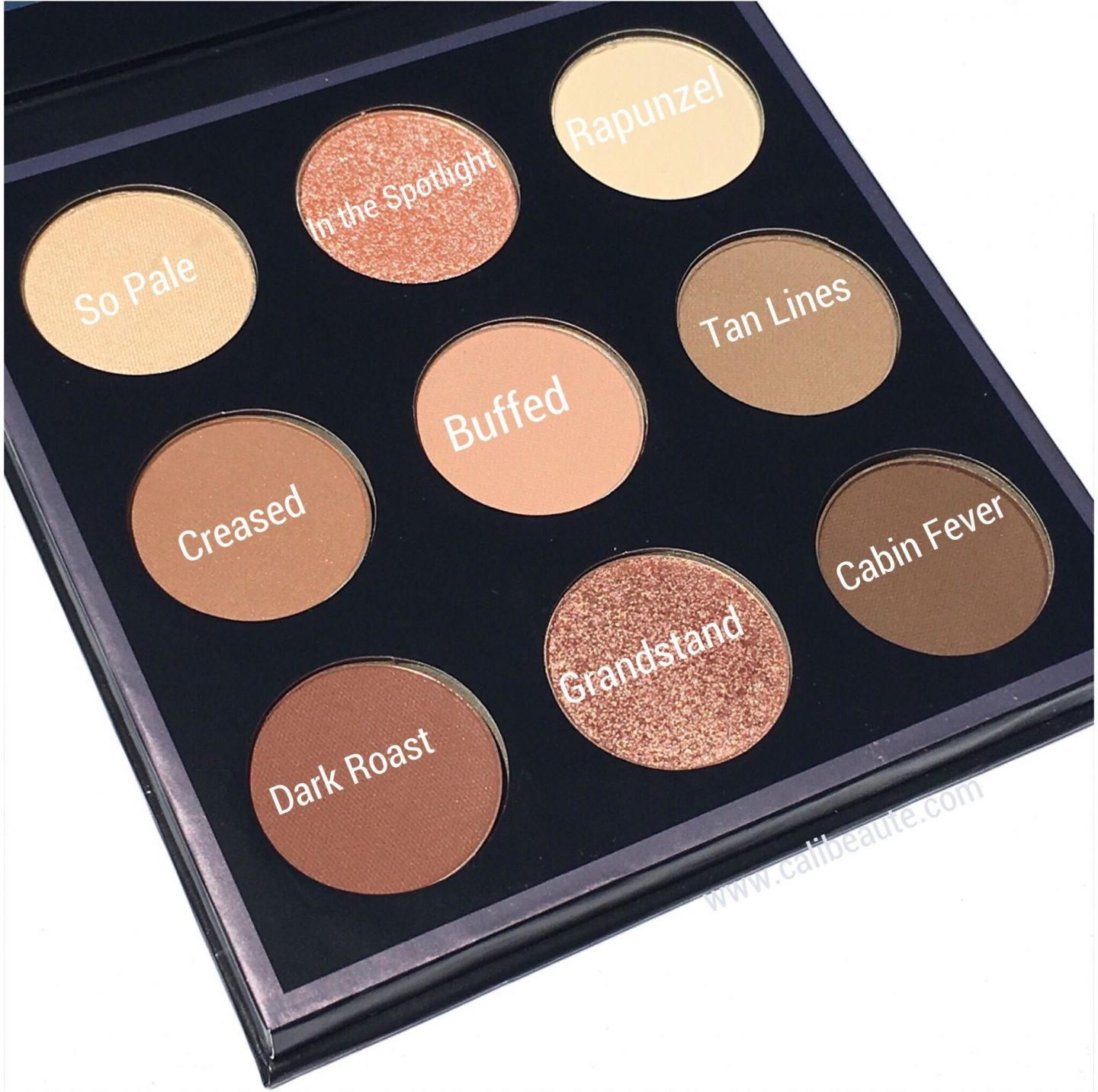 Makeup Geek 9 Pan In the Nude Eyeshadow Palette Shades|www.calibeaute.com