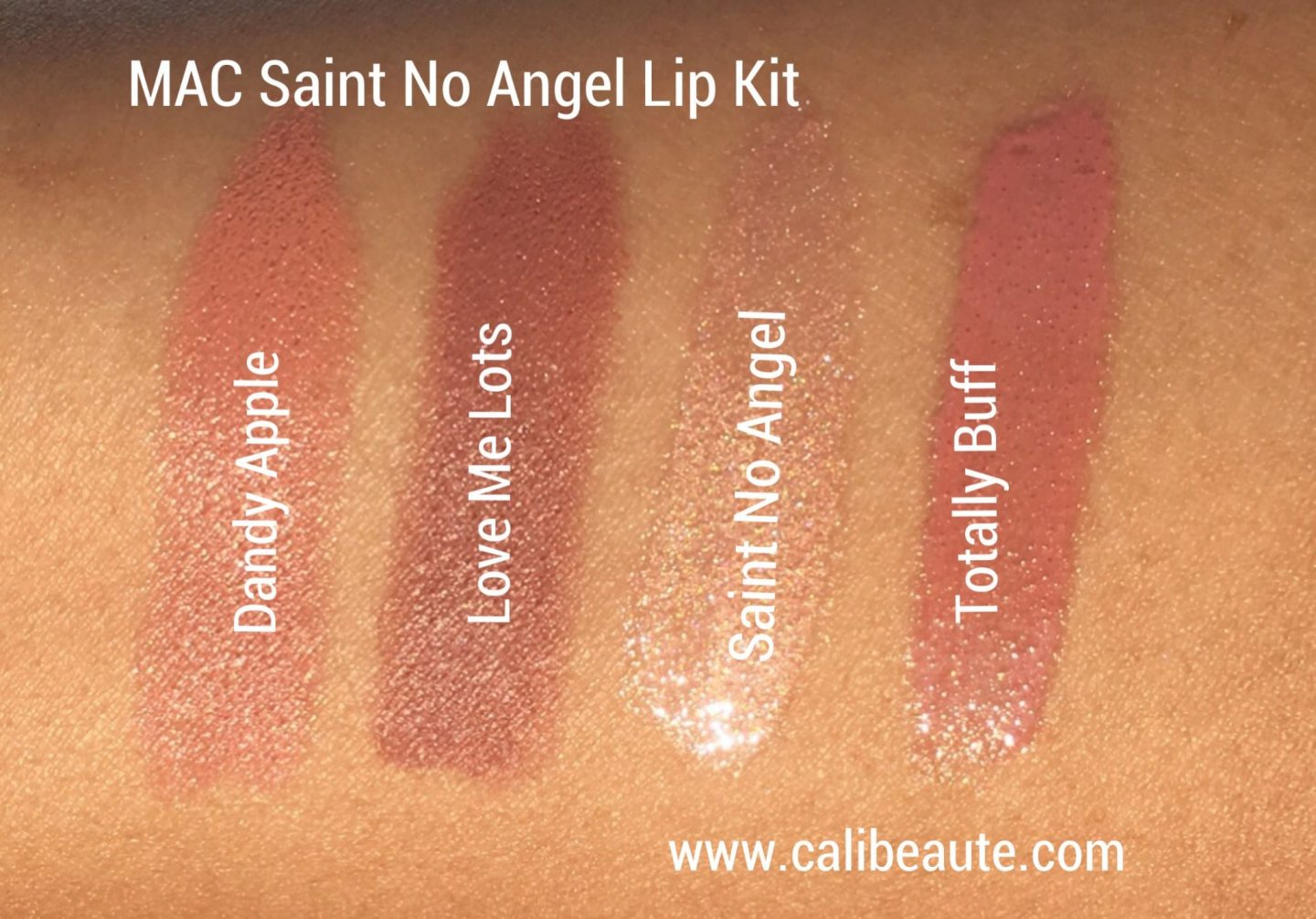 MAC Saint No Angel Lip Kit Swatches |www.calibeaute.com