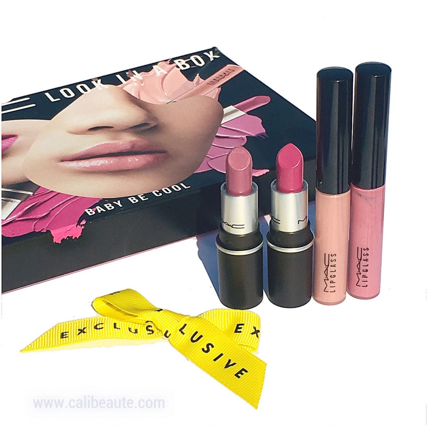 MAC Look in a Box: Baby Be Cool Mini Lip Kit & Saint No Angel Mini Lip Kit Swatches