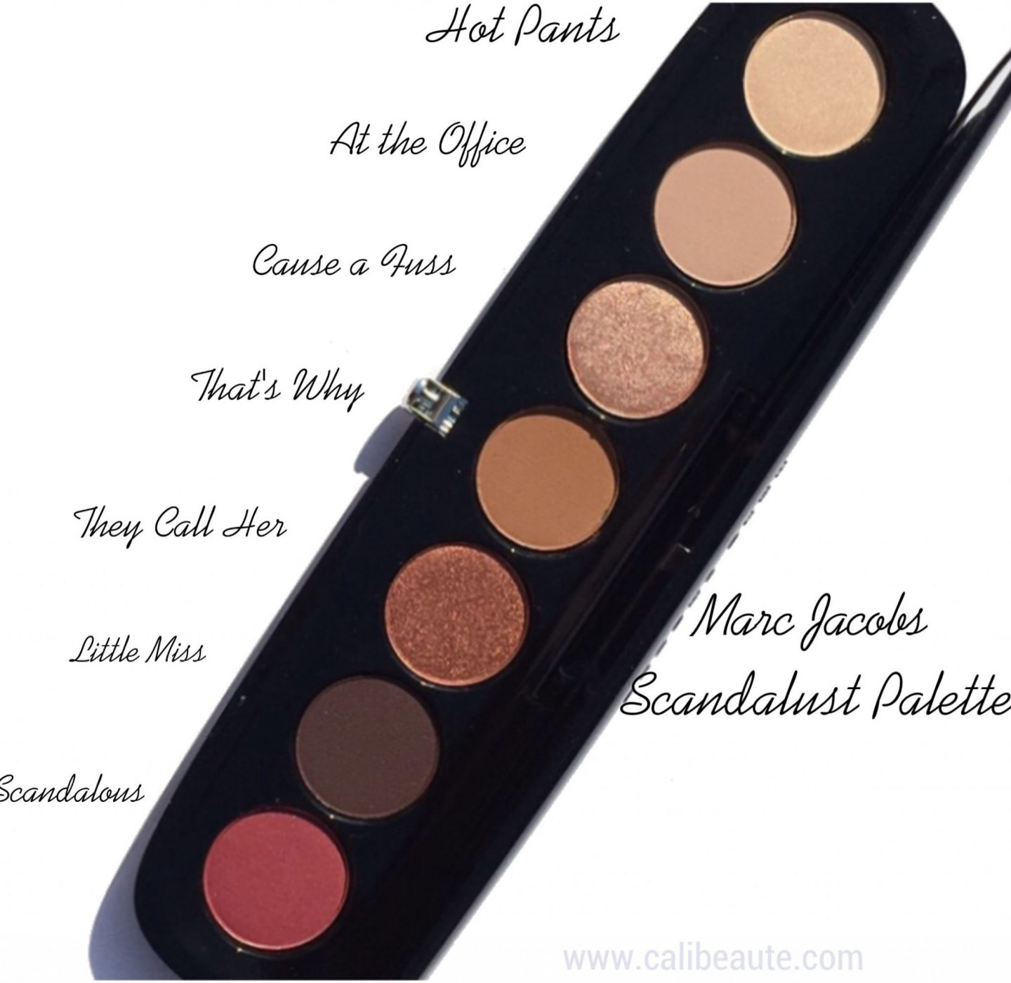 Marc Jacobs Scandalust Palette Review and Swatches |www.calibeaute.com