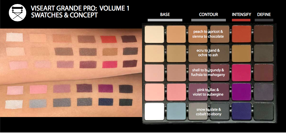 Viseart Grande Pro Swatches | www.calibeaute.com
