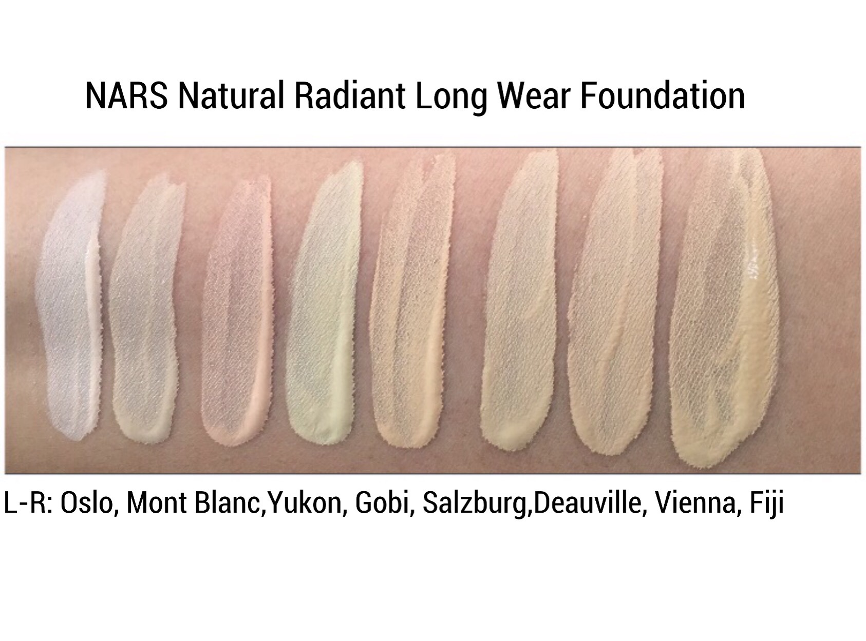 NARS NATURAL RADIANT LONG WEAR FOUNDATION REVIEW SWATCHES  www.calibeaute.com ... 229d2139880ea