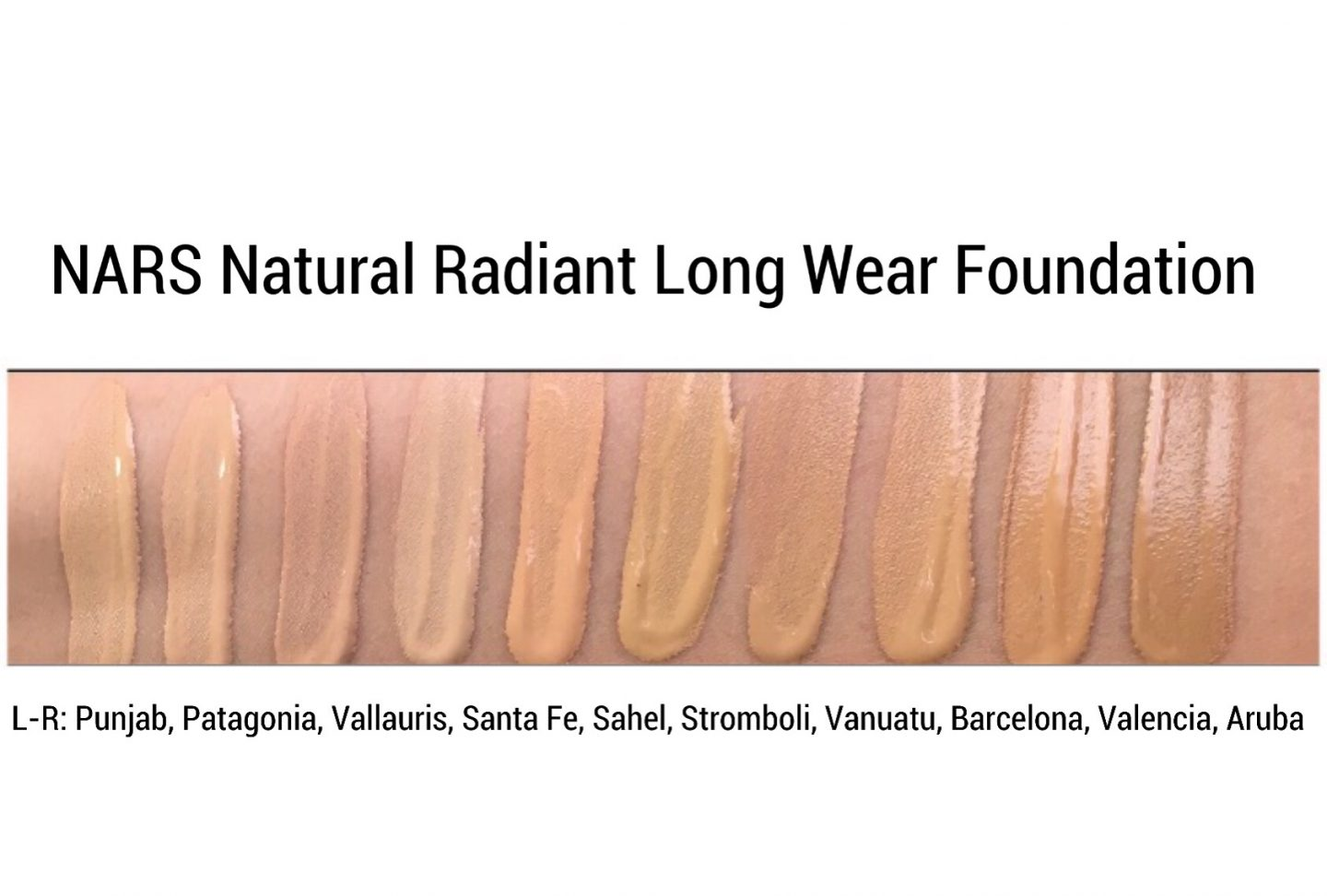 NARS NATURAL RADIANT LONG WEAR FOUNDATION REVIEW SWATCHES www.calibeaute.com