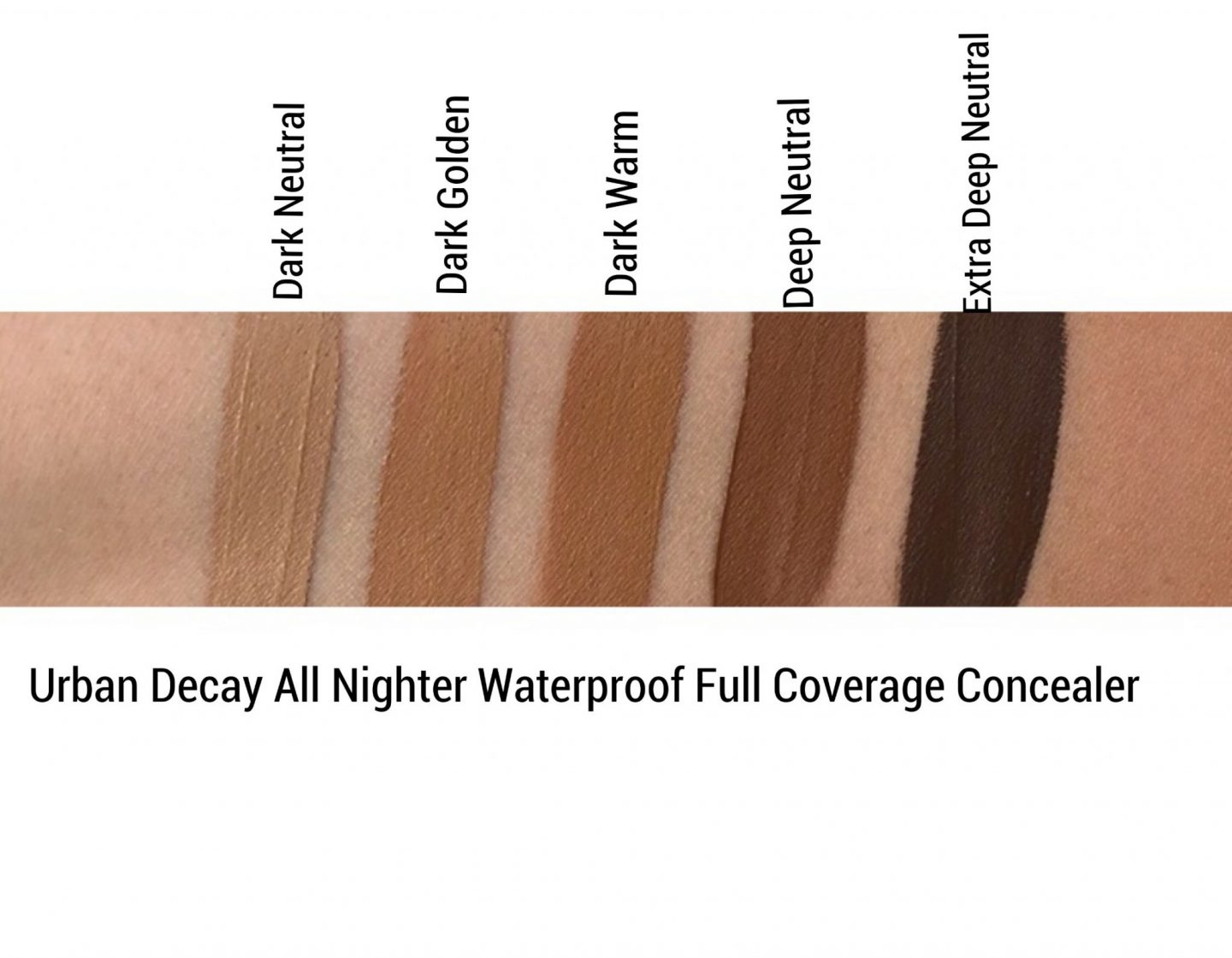 Urban Decay All Nighter Concealer review and swatches www.calibeaute.com