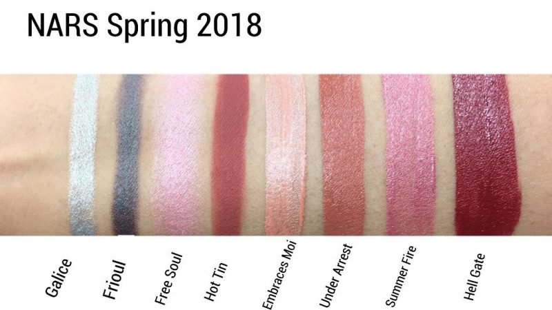 NARS SPRING 2018 Swatches Review www.calibeaute.com