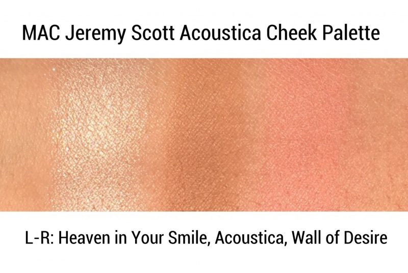 MAC Jeremy Scott Acoustica Swatches