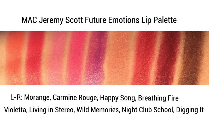 MAC Jeremy Scott Future Emotions Lip Palette Swatches www.calibeaute.com