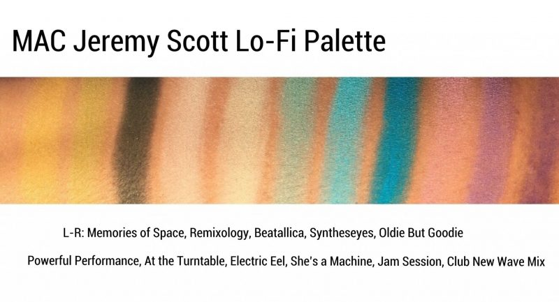 MAC Jeremy Scott Lo Fi Palette Swatches