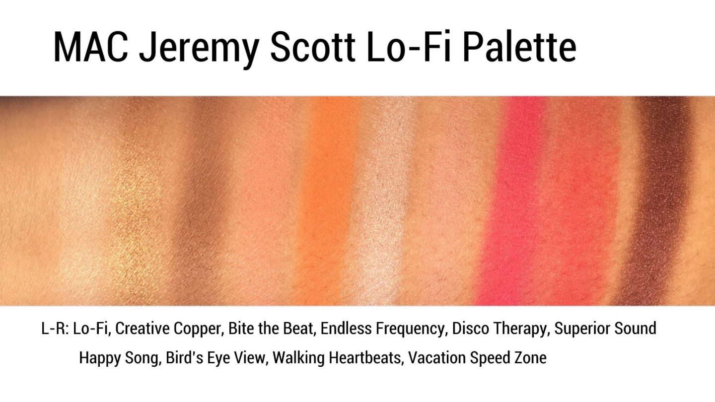 MAC Jeremy Scott Palette Swatches