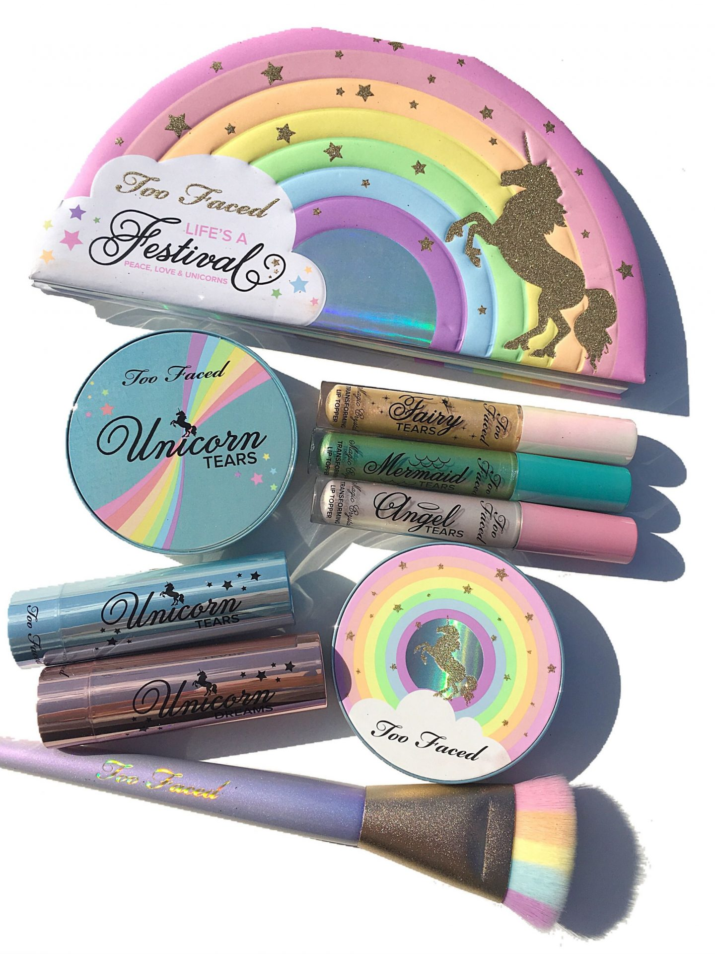 Too Faced Life's a Festival Collection swatches | www.calibeaute.com