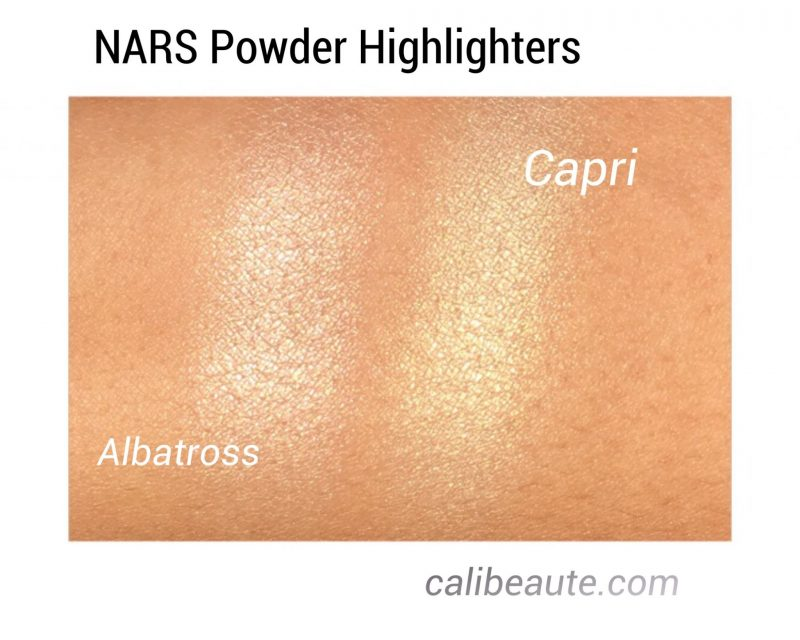 NARS Powder Highlighter Swatchs and review www.calibeaute.com