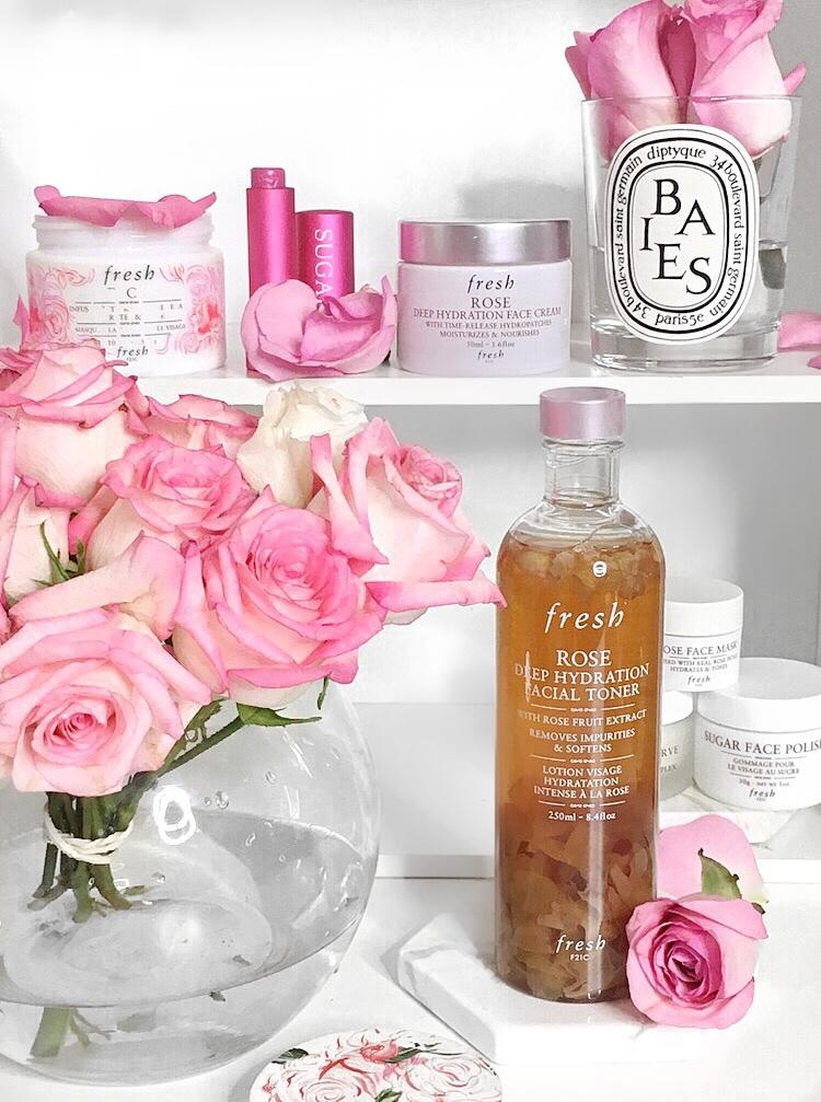 Fresh Rose Deep Hydration Toner & Face Cream