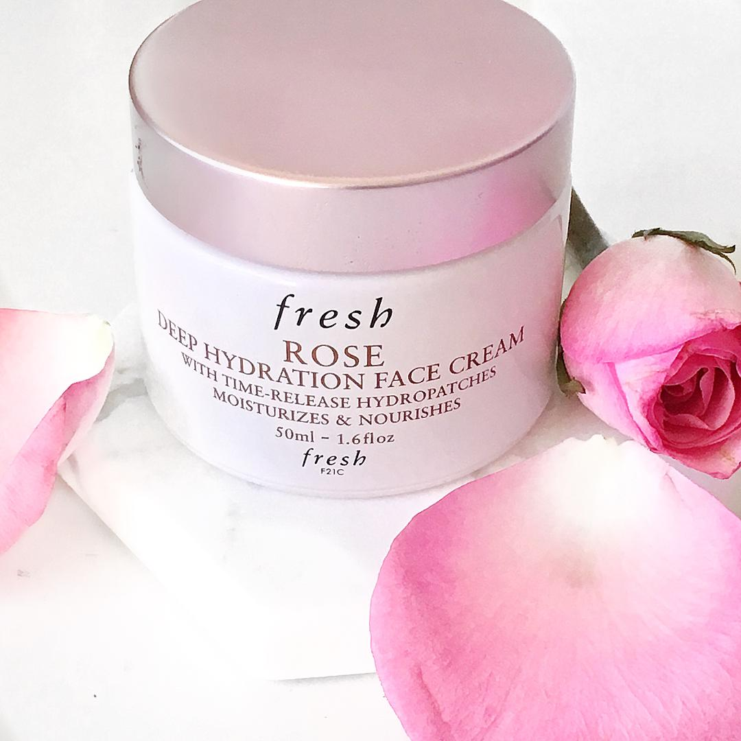 Fresh Rose Deep Hydration Rose Toner and Fresh Rose Deep Hydration cream review www.calibeaute.com