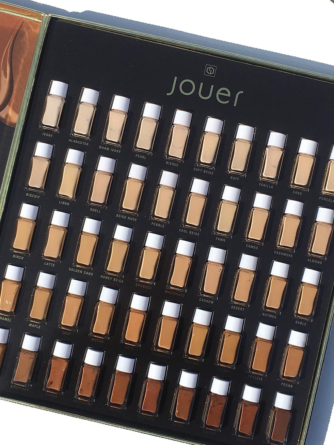 Jouer High Coverage Creme Foundation: Swatches of All 50 Shades