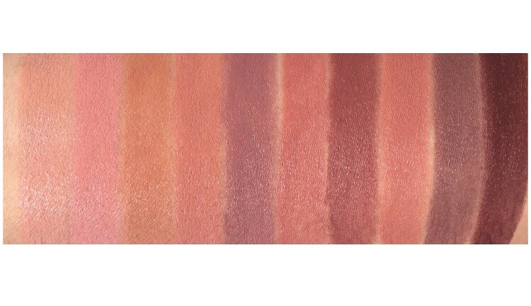 Too Faced Natural Beauty Collection swatches and review www.calibeaute.com