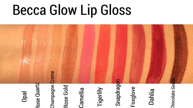 Becca Glow Lip Gloss review and swatches www.calibeaute.com