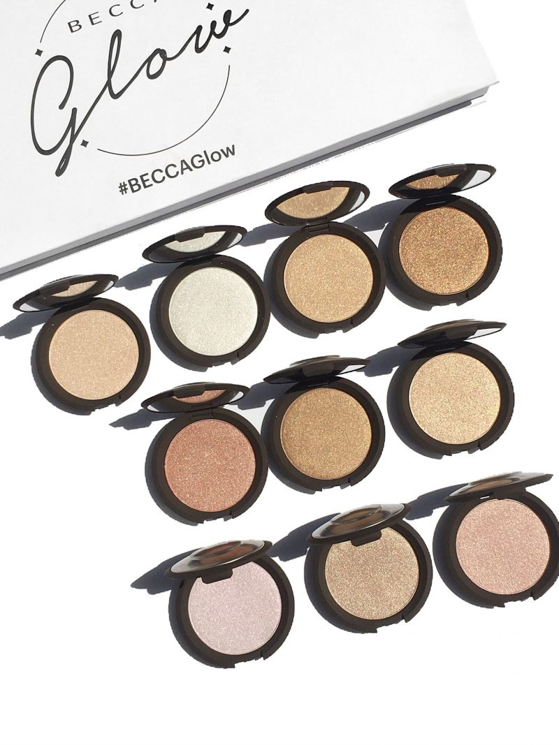 Becca Shimmering Skin Perfector Pressed Highlighters Collection Swatches www.calibeaute.com