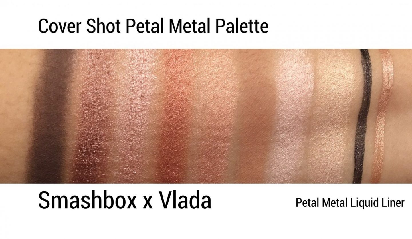 Smashbox x Vlada Petal Metal Collection Swatches review www.calibeaute.com