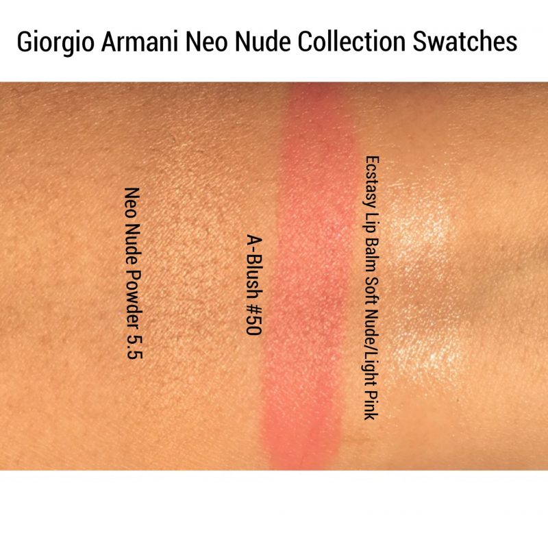 Giorgio Armani Neo Nude Collection Review and Swatches www.calibeaute.com