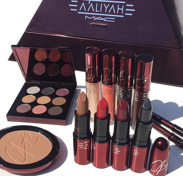 MAC x Aaliyah Collection Swatches