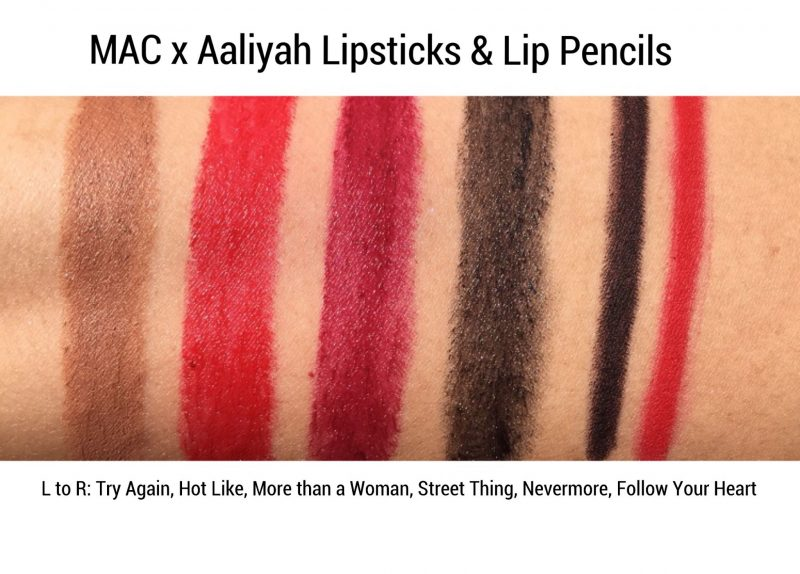 MAC x Aaliyah Collection Review & Swatches www.calibeaute.com