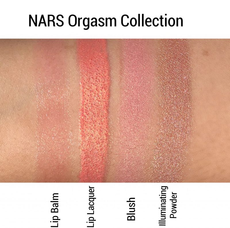 NARS Orgasm Collection Review & Swatches www.calibeaute.com