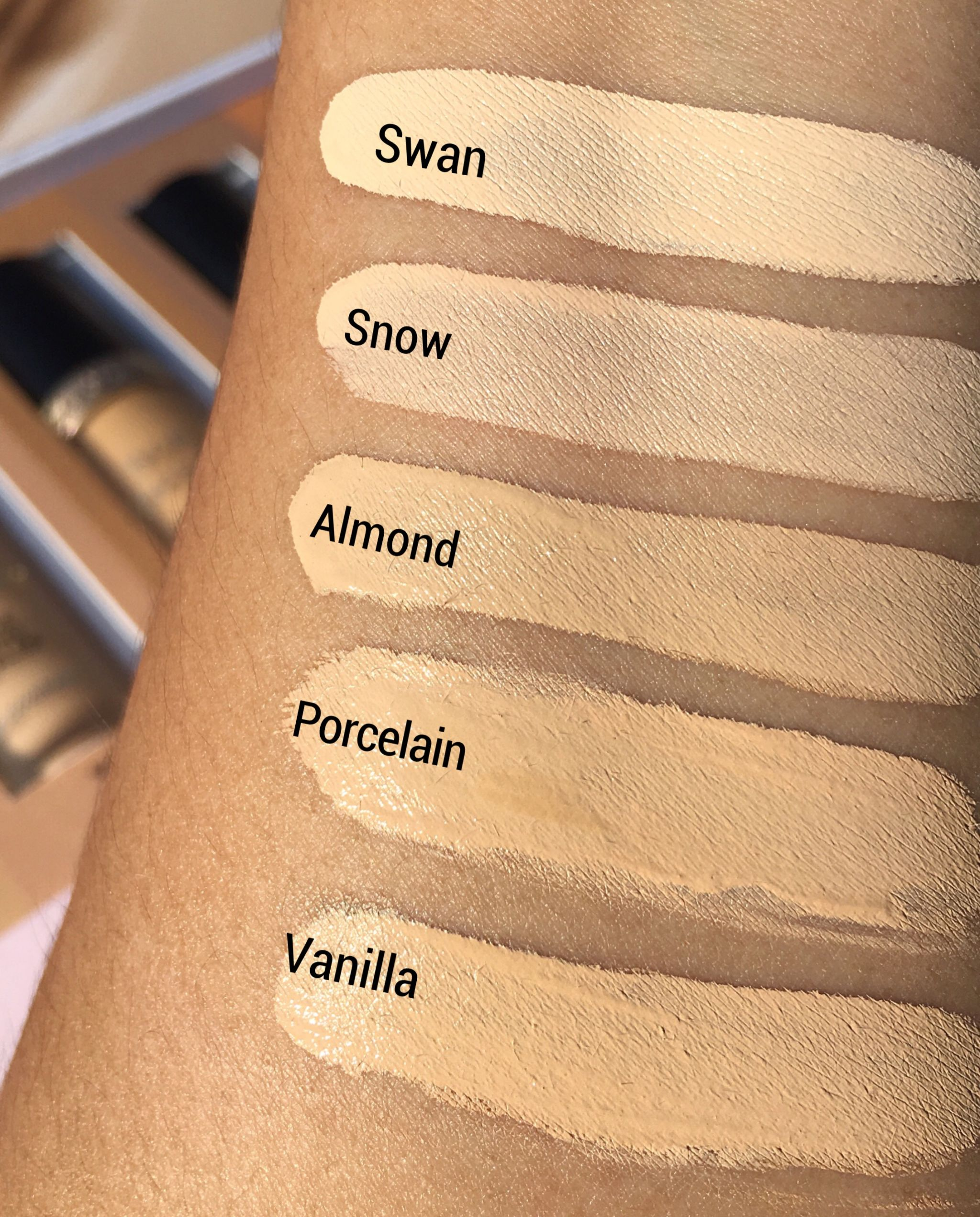 too faced born this way multi scuplting concealer swatches fair to