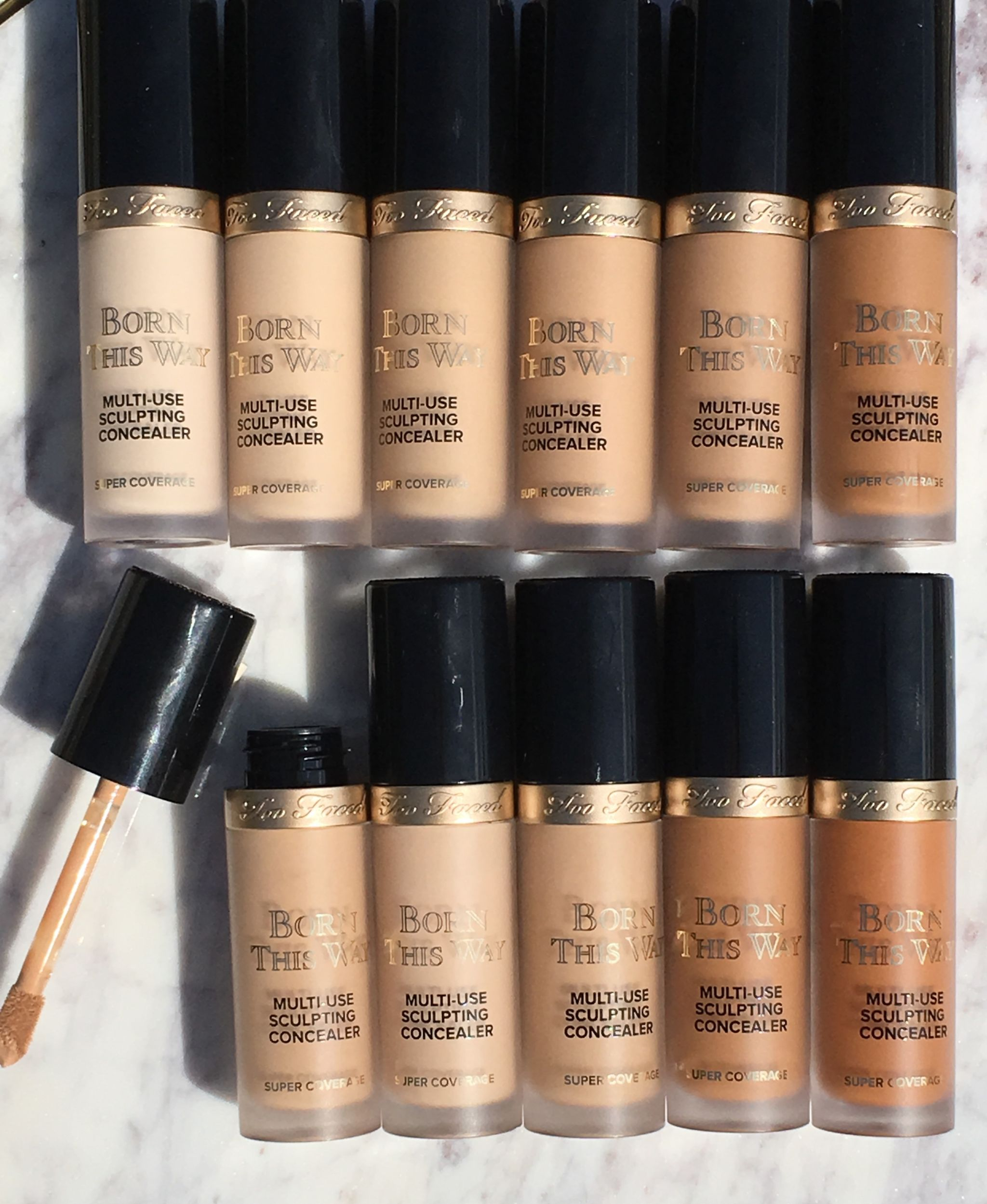 Too Faced Born This Way Super Coverage Multi Use Sculpting Concealer Review Swatches Cali Beaute