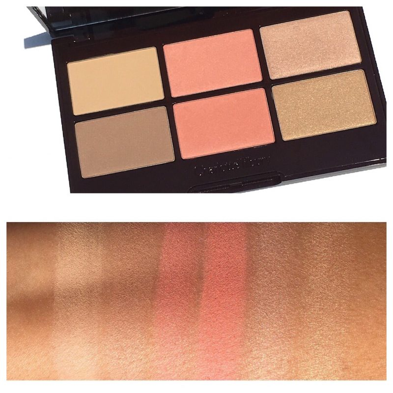Charlotte Tilbury glowing pretty skin palette swatches www.calibeaute.com