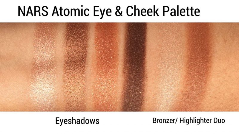 NARS Atomic Eye & Cheek Palette review and swatches www.calibeaute.com