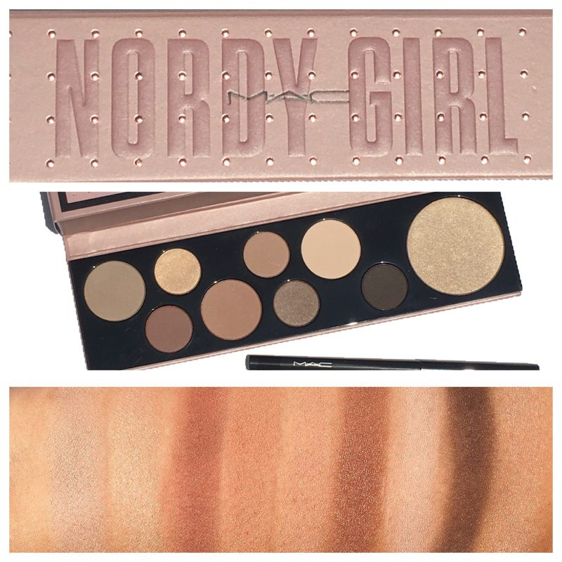 MAC Nordy Girl Matte Palette swatches