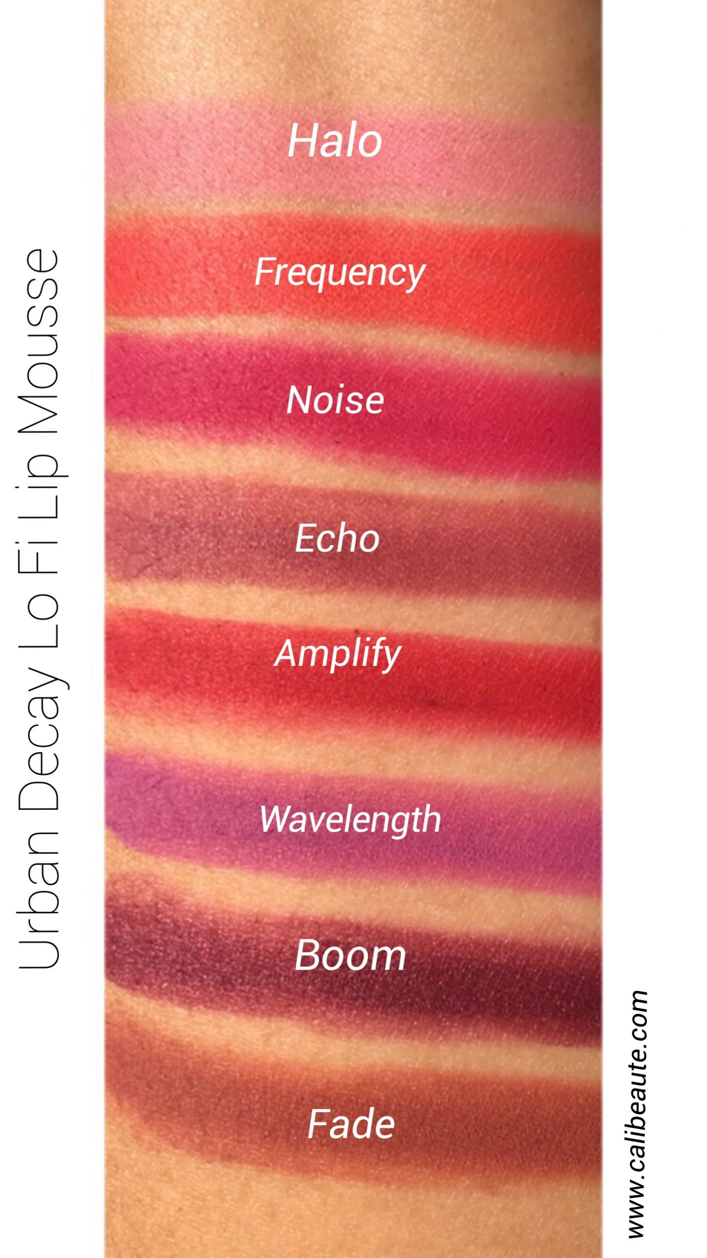 Urban Decay Lo Fi Lip Mousse Swatches & Review www.calibeaute.com