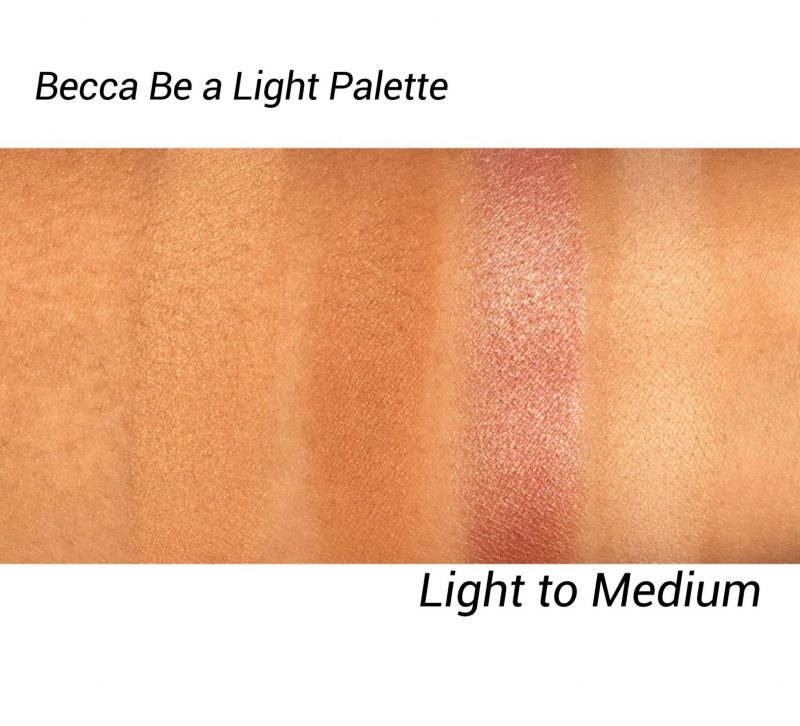 Becca Cosmetics Be a Light Palette swatches review Chrissy Teigen