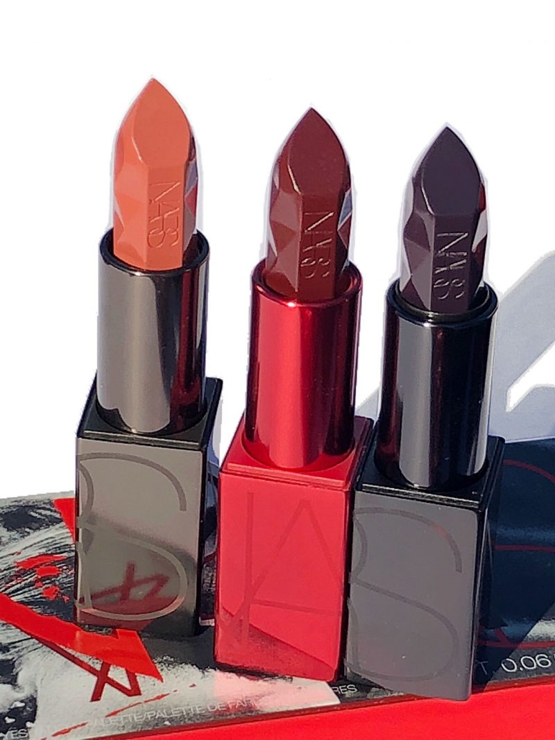 NARS Spiked Audacious Lipstick Review and Swatches www.calibeaute.com