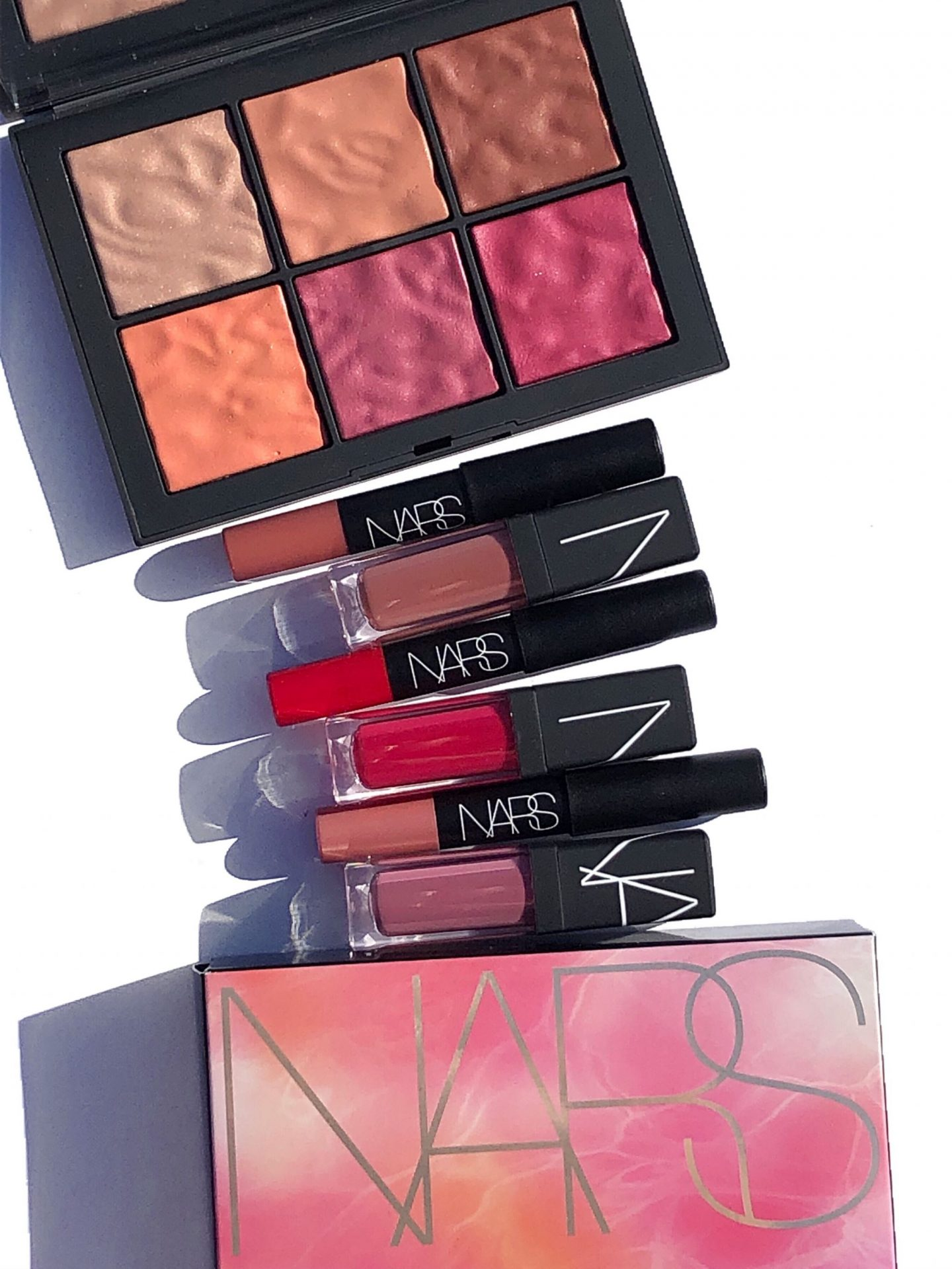 NARS Exposed Collection Cheek Palette & Explicit Lip Duos Swatches