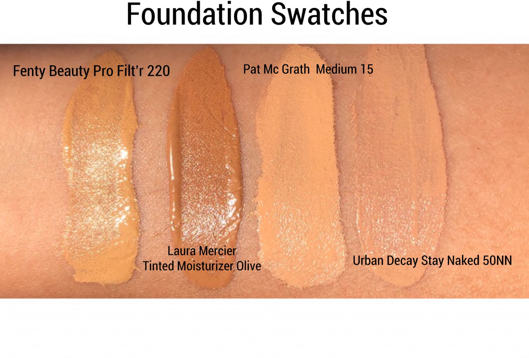 Foundation Swatches Cali Beaute