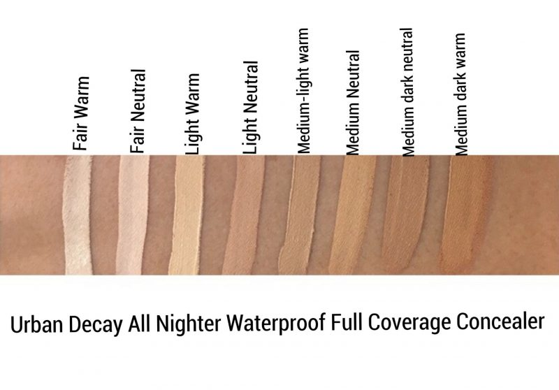 Urban Decay All Nighter Concealer review and swatches