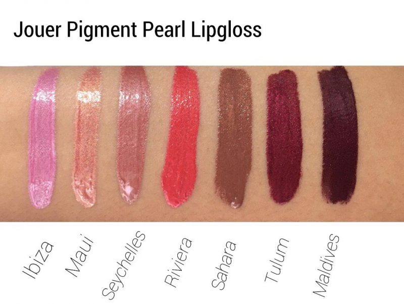 Jouer High Pigment Pearl Lip Gloss review and swatches